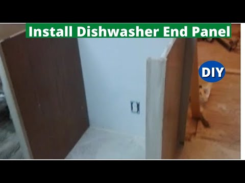 How to Install Dishwasher End Panel Step by Step - YouTube