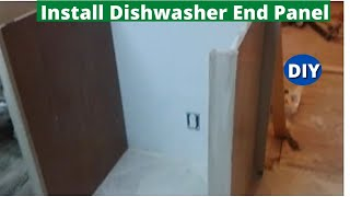 How to Install Dishwasher End Panel Step by Step