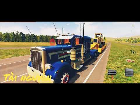 World truck driving simulator | PETERBILT 359 Truck vận chuyển xe công trình 🚚🚚🚚💨💨💨