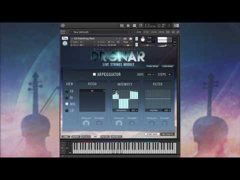 Using the Arpeggiator in DRONAR Live Strings