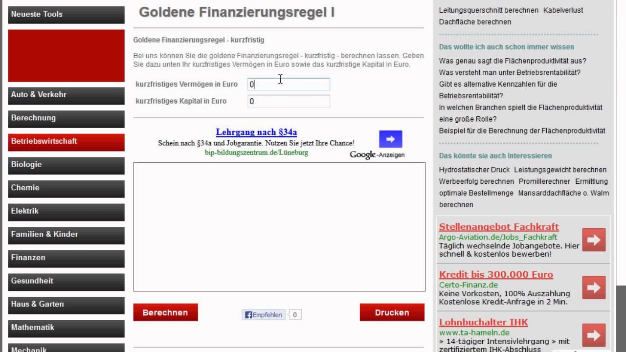 Goldene Finanzierungsregel I