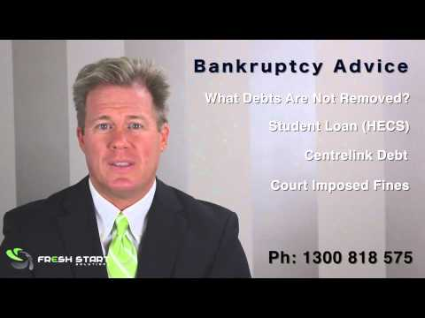 Bankruptcy Advice Australia - What Debts Are Removed