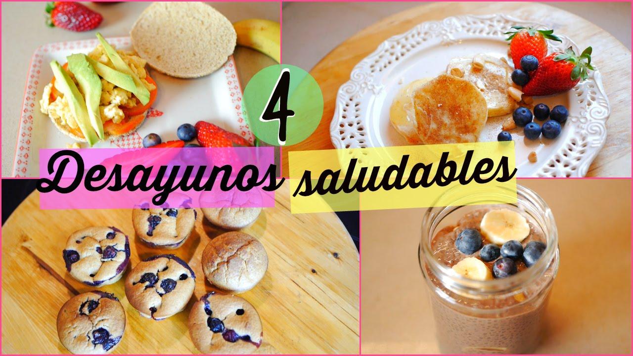 4 desayunos saludables ricos y f ciles 4 healthy easy breakfast ideas lizy p youtube - Almuerzos faciles y rapidos ...