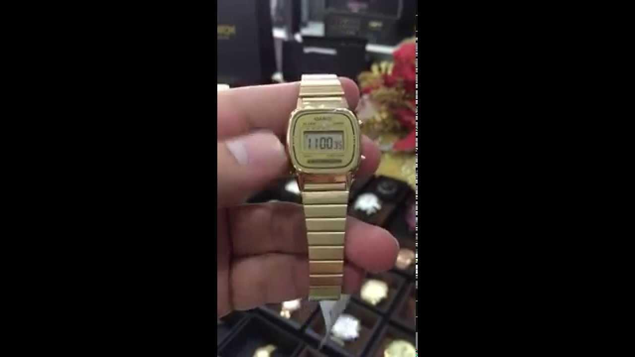 17ca0fc45 Casio Women's LA670WGA-9 Gold Stainless-Steel Quartz Watch with Digital  Dial LA670WGA 9DF