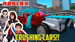 Cars for Kids! CRUSHING CARS ON ROBLOX!