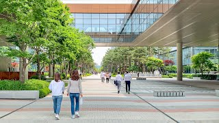 [4K] Lunch break at LG Science Park and Seoul Botanic Garden in Seoul Korea 서울 강서구 마곡역 사이언스파크와 서울식물원