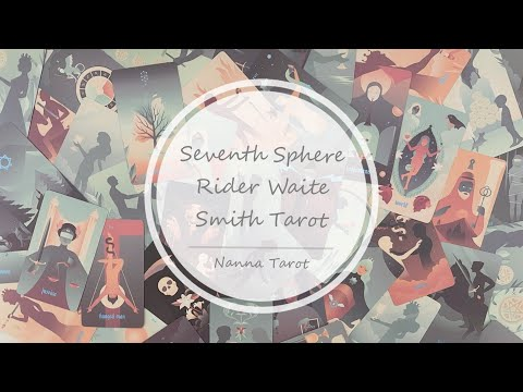 開箱  七號球騎士偉特塔羅牌 • Seventh Sphere Rider Waite Smith Tarot // Nanna Tarot