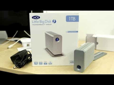 LaCie Little Big Disk 1TB Thunderbolt Hard Drive Unboxing & Hands-On!