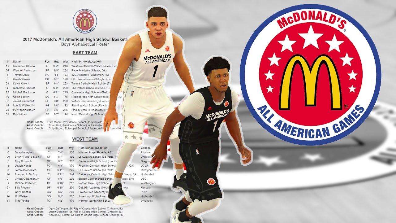 9987480c303 NBA 2K17 - 2017 McDonald s All American Game - YouTube