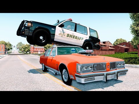 Crazy Police Chases - Best Moments - BeamNG Drive Crashes