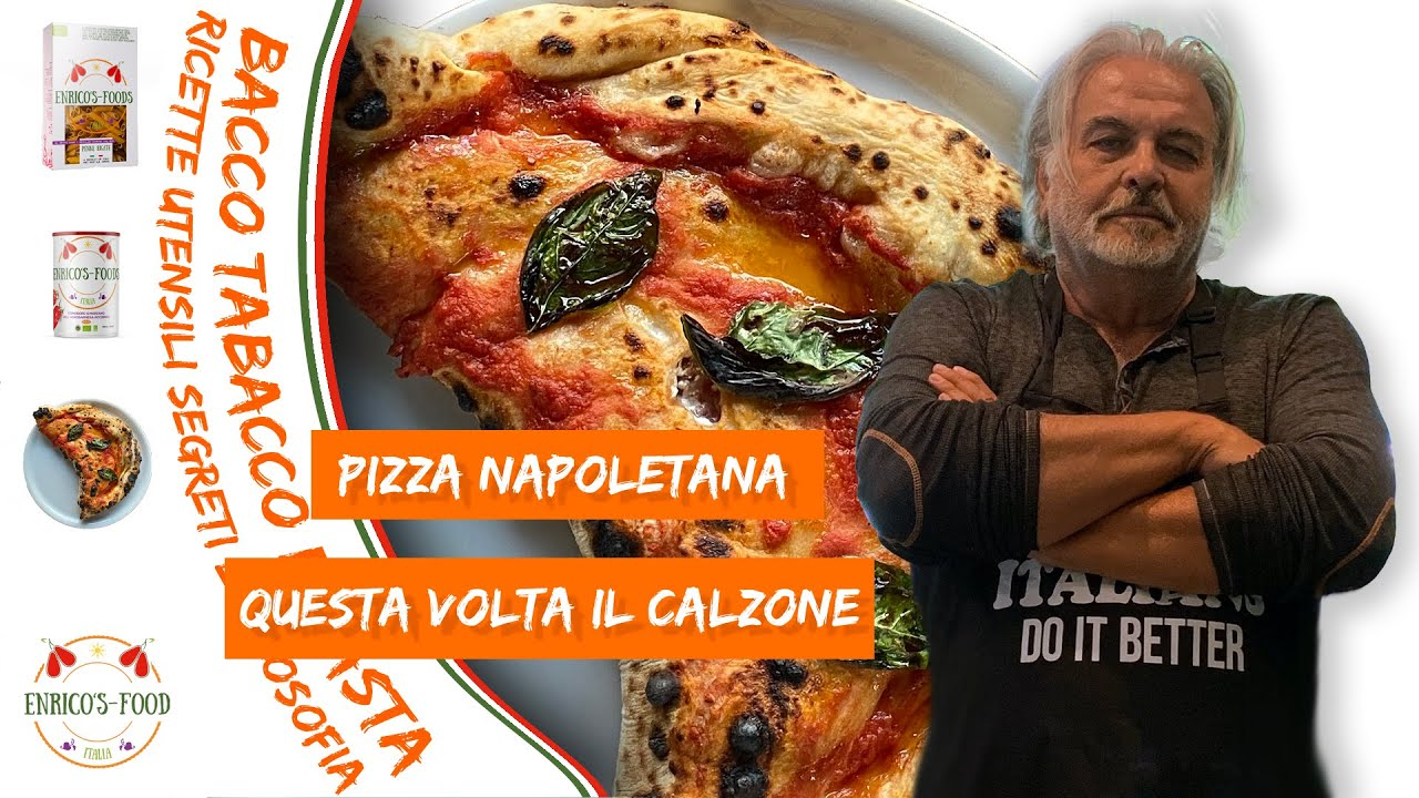 Calzone, pizza ripiena Napoletana - Calzone, Neapolitan stuffed pizza