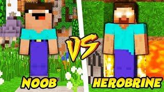 NOOB VS HEROBRINE || TROLL NOOBA W MINECRAFT!