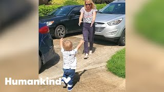 Watch toddler's amazing reaction to seeing grandparents | Humankind