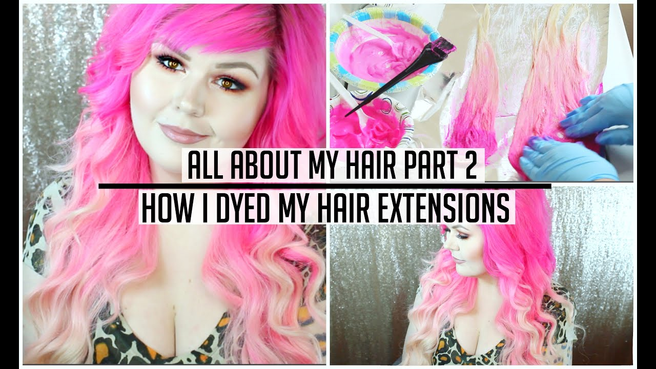 All about my hair part 2 how i dyed my hair extensions pink to all about my hair part 2 how i dyed my hair extensions pink to blonde ombre pmusecretfo Gallery