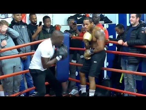 ANTHONY YARDE SHOWS OFF SLICK DEFENSE AS HIS TRAINERS TRY TO BEAT THE CRAP OUT OF HIM DURING WORKOUT