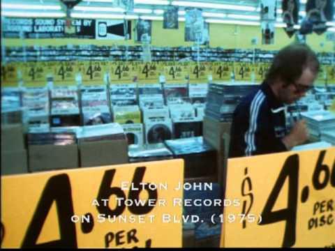 Elton John at Tower Records