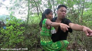 Catch Big Carp By Hand In Puddles   Hand Fishing Skills Catching Fish   Cooking Big Fish