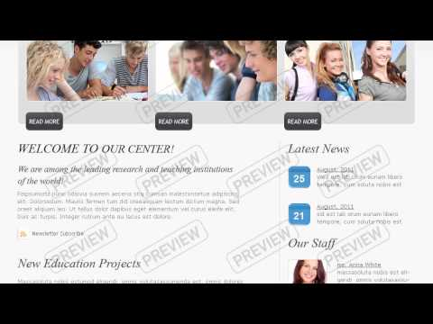 Higher Education Website Template
