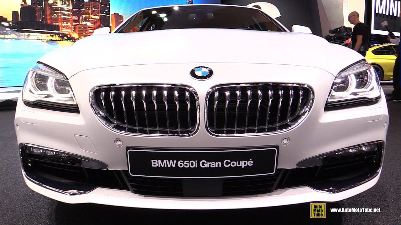 2016 bmw 650i gran coupe exterior and interior walkaround 2015 detroit auto show youtube