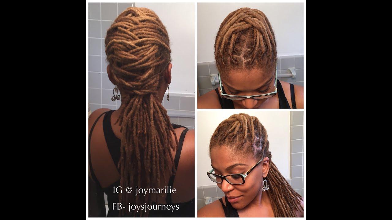 Natural Hair Locs Styles: Simple Weave Pattern