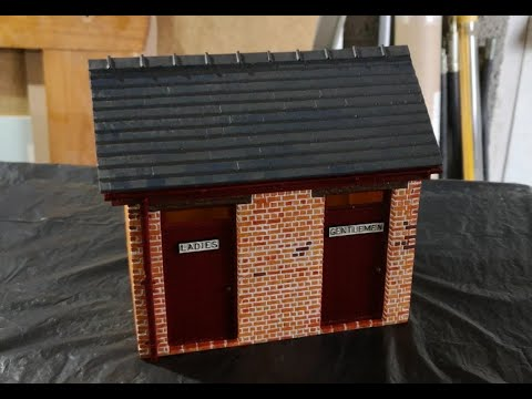 G scale kippo models toilet building assembly