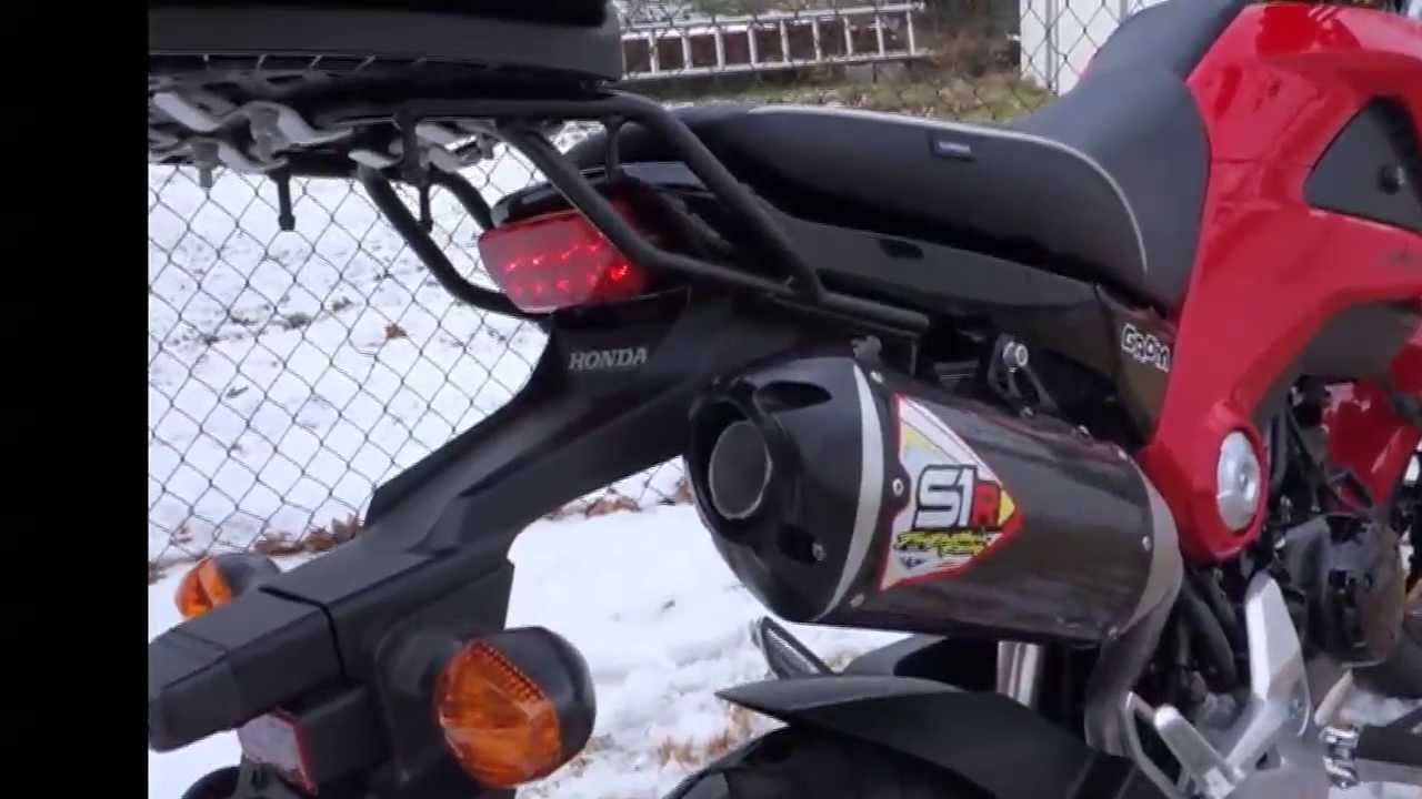 2015 Honda Grom >> Grom Two Brothers Exhaust Test Ride - YouTube