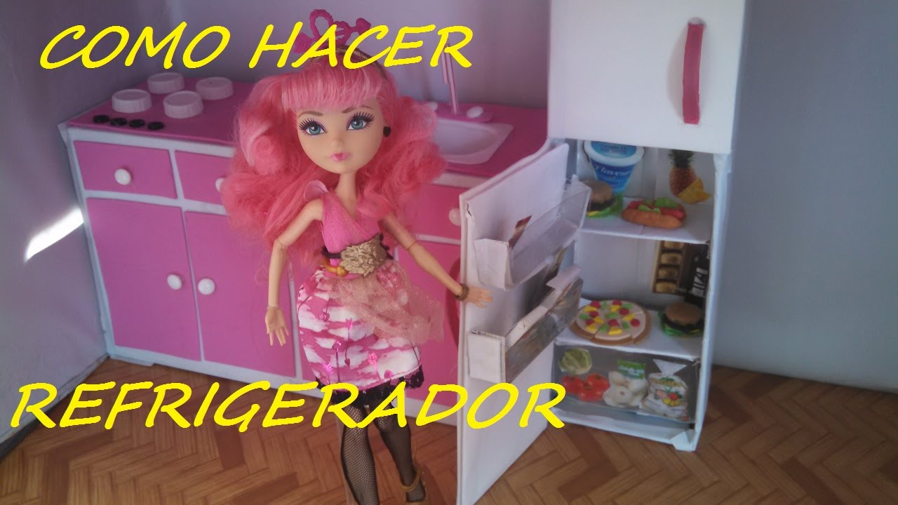 Como hacer un refrigerador nevera frigorifico para - Como hacer un armario de carton ...