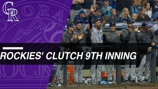 Rockies rally in 9th to tie Game 1 of the NLDS