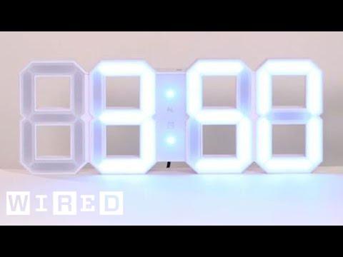 White & White Digital LED Clock - Staff Picks