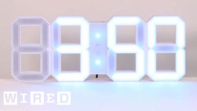 White Digital Led Clock Staff Picks