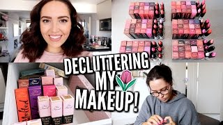 decluttering my makeup collection giveaway