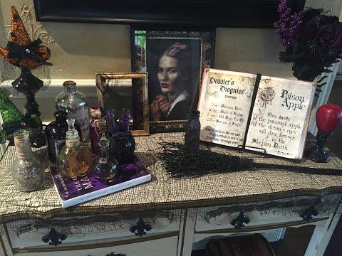 DOLLAR TREE Halloween DIY + Decorate Entry Table