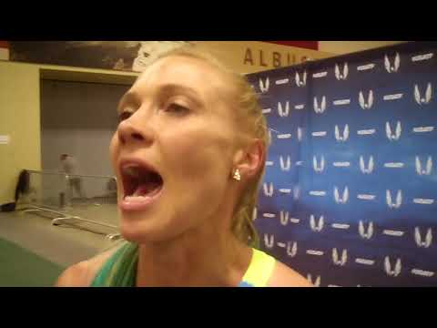 Katie Mackey After Making First Worlds Team at 2018 USA Indoors