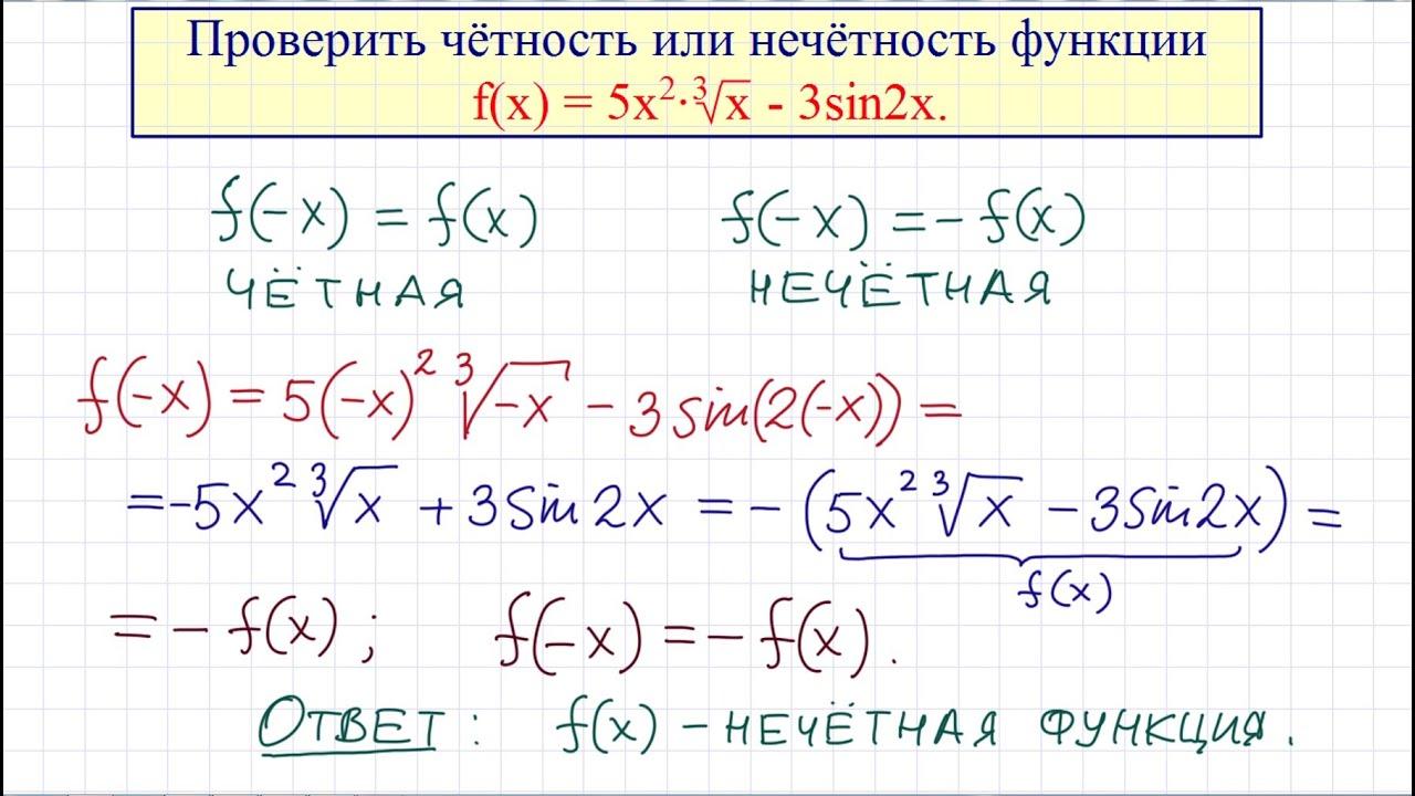 Решение задач на четность нечетность функций задачи по геометрии с решениями 9 класс