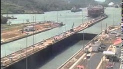 Panama Canal Miraflores locks time-lapse, 1 week compressed into 11 minutes