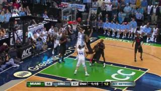 Repeat youtube video UNC vs Miami (March 11, 2011): Comeback from 19 down
