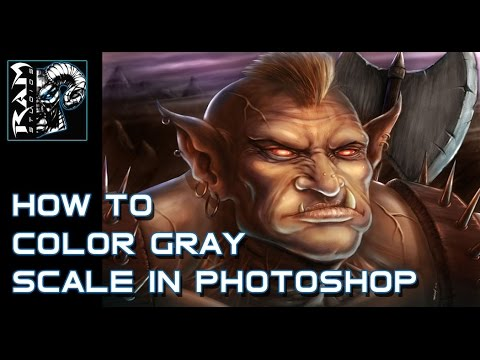 How to Color Over Grayscale Paintings In Photoshop - Narrated by