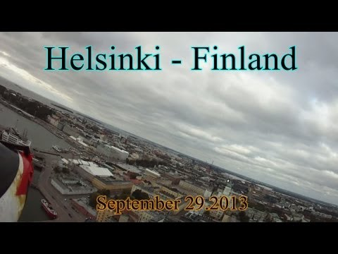 Aerial plane view from Helsinki - Capital City of Finland