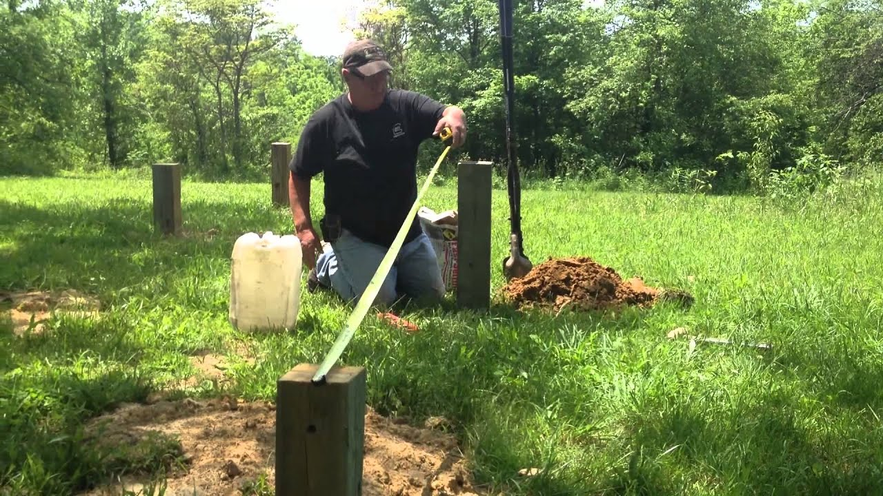 Setting foundation posts for the cabin the off grid for Off grid cabin foundation