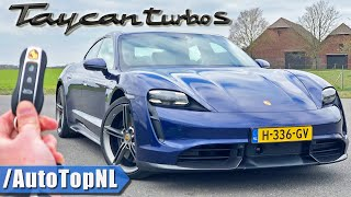 761HP Porsche Taycan Turbo S REVIEW on AUTOBAHN & ROAD by AutoTopNL