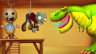 Dinosaurs T-REX Vs Gallows Machine | Kick The Buddy Game Hot 2019 | Sam Gameplay