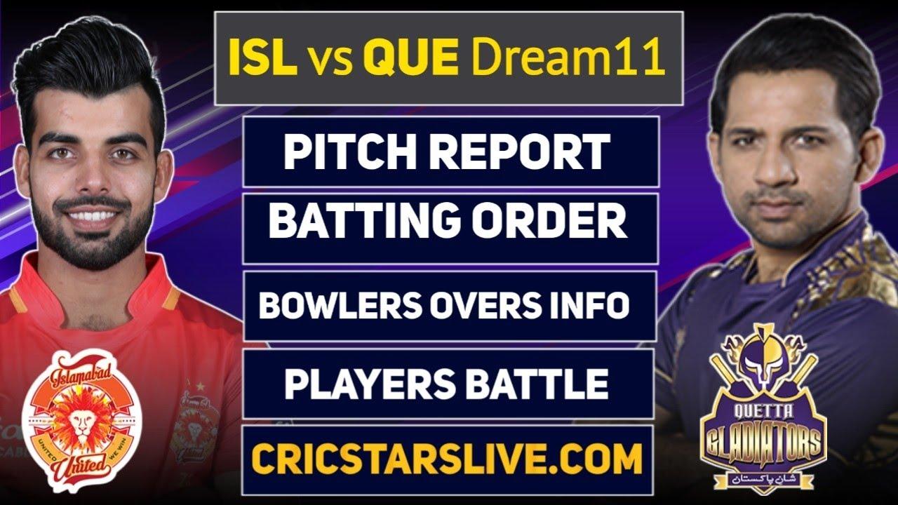 ISL vs QUE Dream11 Prediction | IU vs QG Dream11 Prediction | Sheikh Zayed Stadium Abu Dhabi