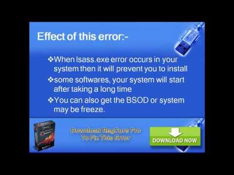 How to fix windows error Lsass.exe