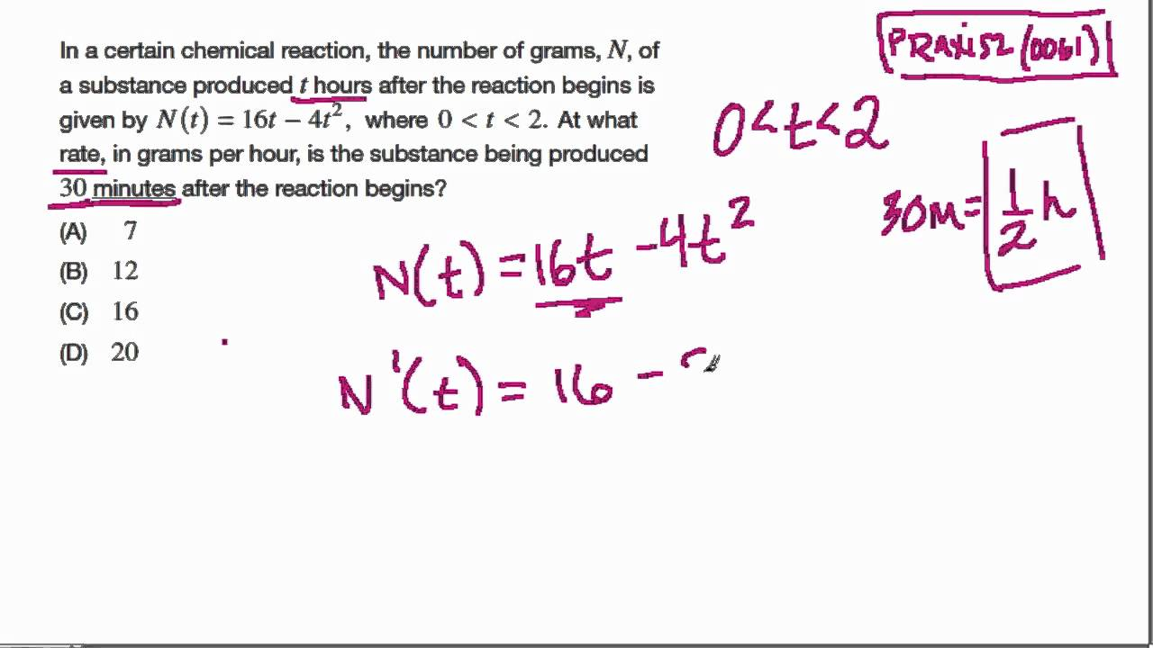 Praxis 2 (0061) Calculus 1 - YouTube
