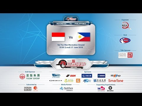 XII BFA East Asia Baseball Cup 2018 - Philippines Vs Indonesia (Live01)