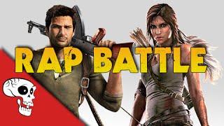 Lara Croft vs Nathan Drake Rap Battle by JT Music & Andrea Storm Kaden