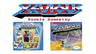Xevious (Arcade/NES) - Double Gameplay