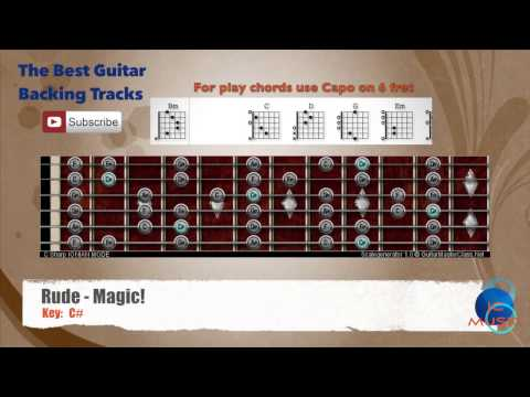 Rude - Magic! Guitar Backing Track with scale chart