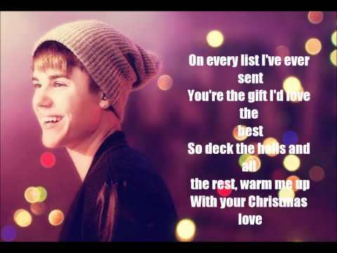 Justin Bieber - Christmas Love ( lyrics )
