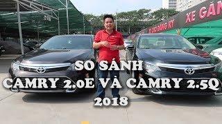 So sánh Toyota Camry 2.0E và Toyota Camry 2.5Q [ Hotline: 0937776556]- Toyota Phú Mỹ Hưng